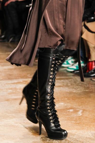 Altuzarra Fall 2011 N.Y Show, Black Leather Combat Platform Boots