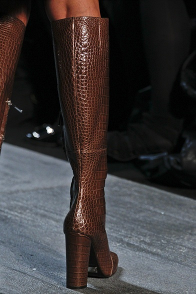 Brown Allligator Tall Boot, Michael Kors Fall 2011 N.Y Show