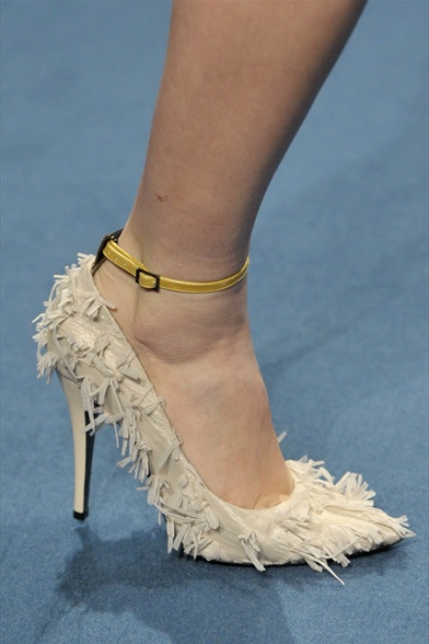 Albino, Albino Fall 2011 Milan Show, Beige Silk Tweed Pump
