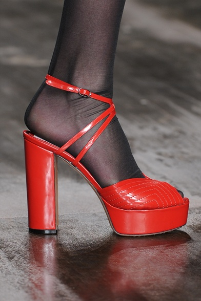 Antonio Marras Fall 2011 Milan Show, Red Leather Platform