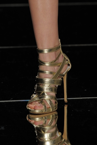 John Richmond Fall 2011 Milan Show, Metallic Gold Sandals