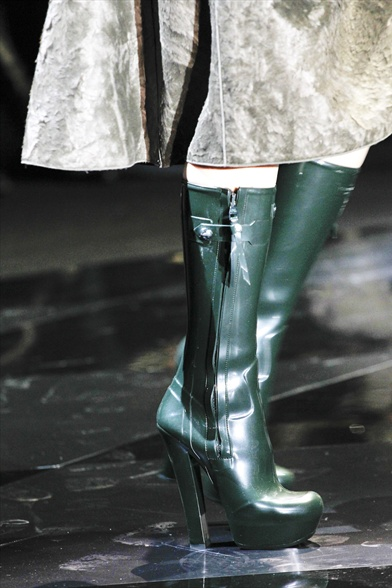 Louis Vuitton Fall 2011 Paris Show, Green Wellington Platform Boots