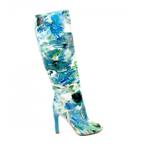 Floral Painted Tall Boot, Baldinini Spring 2011 Collection