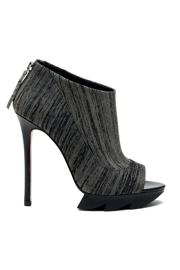 Black and Grey Graphic Print Bootie, Camilla Skovgaard Fall 2011 Collection
