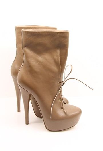 Alejandro Ingelmo Fall 2011 Collection, Brown Leather Platform Boots