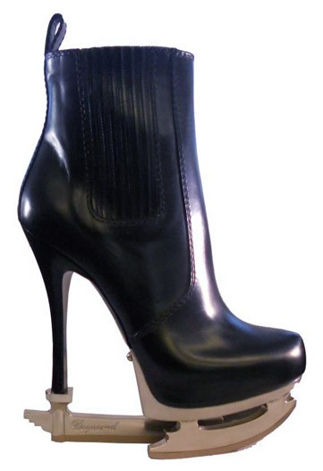 Dsquared2 Fall 2011, Black Chelsea Boot with Silver Platform