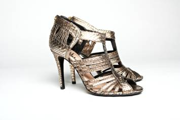 Metallic Gold Python Sandals, Mechante of London Spring 2011 Collection