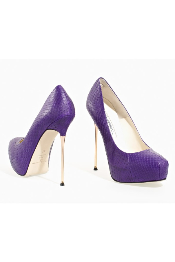 Purple Snakeskin Pumps, Brian Atwood Fall 2011 Collection