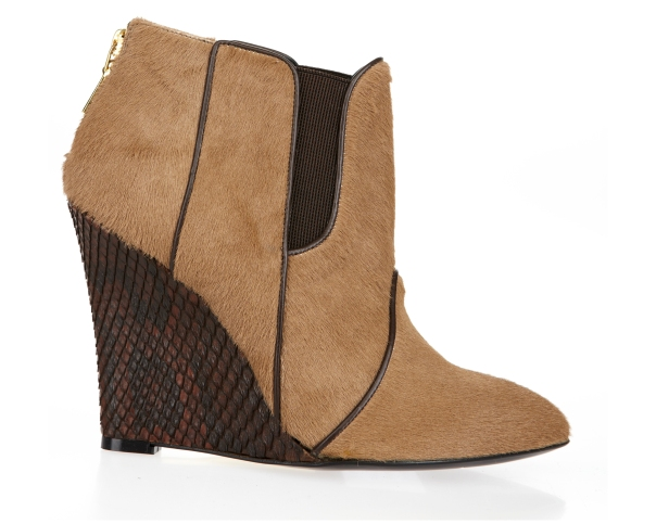 Camel Brown Ponyhair Chelsea Boot, Mechante of London x William Tempest Fall 2011